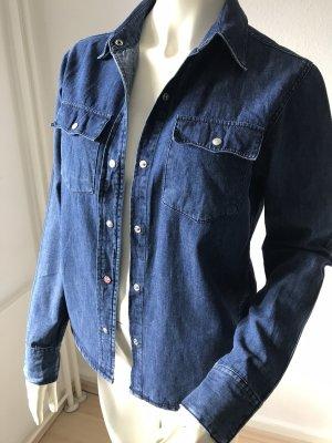 Closed Blouse en jean bleu foncé