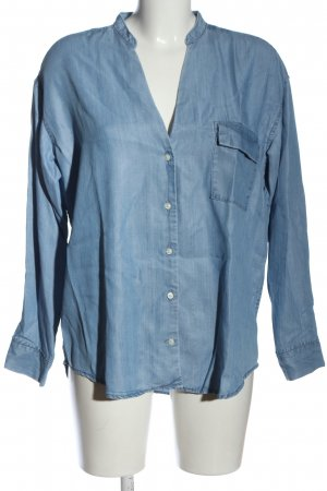 Closed Camicia denim blu puntinato stile casual