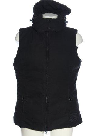 Closed Hooded Vest black casual look