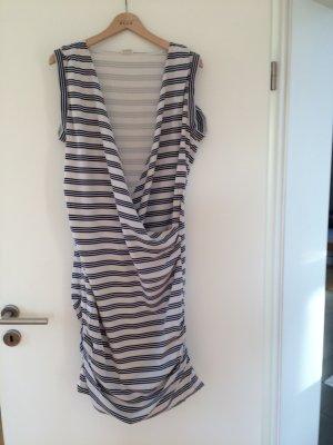 Closed Kleid maritimer Look beige blau Gr. M