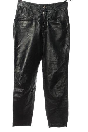 Closed Spodnie z imitacji skóry czarny W stylu casual
