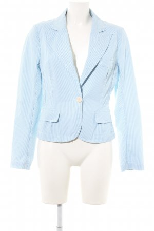 Closed Kurz-Blazer weiß-himmelblau Streifenmuster Business-Look
