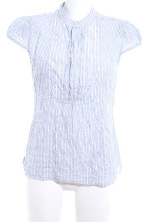 Closed Kurzarm-Bluse blau-weiß Streifenmuster Business-Look