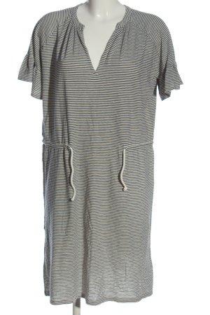 Closed Vestido de manga corta blanco puro-azul estampado a rayas look casual