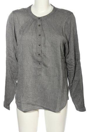 Closed Blouse à manches longues gris clair Motif de tissage style décontracté