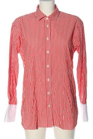 Closed Camisa de manga larga rojo-blanco estampado a rayas estilo «business»