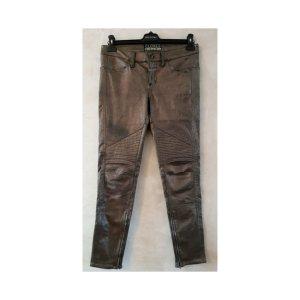 Closed Pantalón de cuero color bronce
