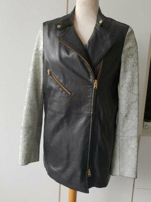 CLOSED Leder Jacke 36 / S kurzer Mantel in Biker Style passt wie 38 / M