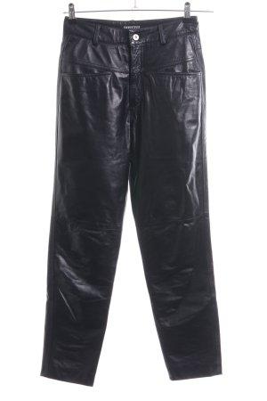 Closed Pantalon en cuir noir style extravagant