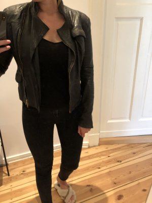 Closed Leather Jacket black leather