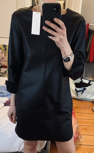 Closed Vestido de cuero negro