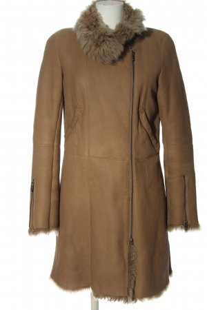 Closed Leather Coat brown casual look