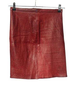 Closed Jupe en cuir rouge style mouillé