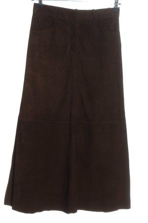 Closed Jupe en cuir brun style décontracté