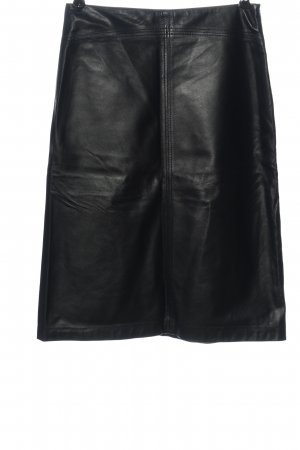 Closed Leather Skirt black casual look