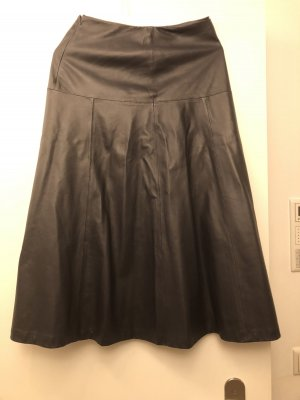 Closed Leather Skirt dark grey