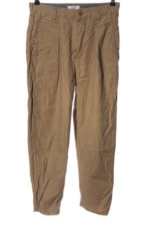 Closed Pantalón de lino marrón look casual