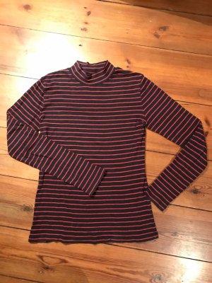 Closed: Long Sleeve/ Rolli, Langarm-Shirt, dunkelblau-rot gestreift, Gr. xs/ s/ 34/ 36