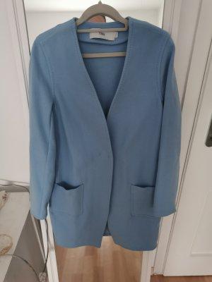 Closed Mantel in blau aus Wolle