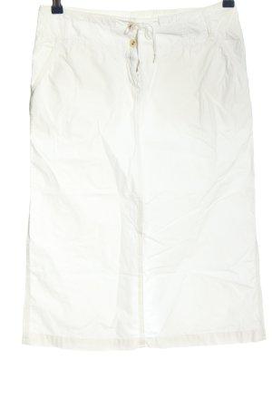 Closed Falda de talle alto blanco look casual