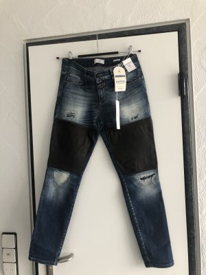 CLOSED Neu Girlfriend  Jeans mit Ledereinsatz