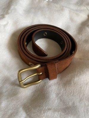 Closed Cinturón de pinchos marrón Cuero