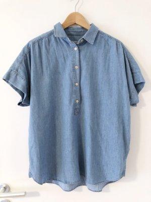 CLOSED – Oversized Kurzarm-Hemd in Jeansoptik