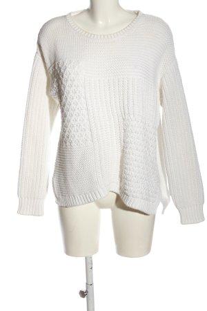 Closed Sweter oversize biały W stylu casual