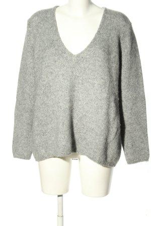 Closed Maglione oversize grigio chiaro puntinato stile casual