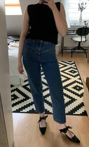 Closed Jeans taille haute bleu coton