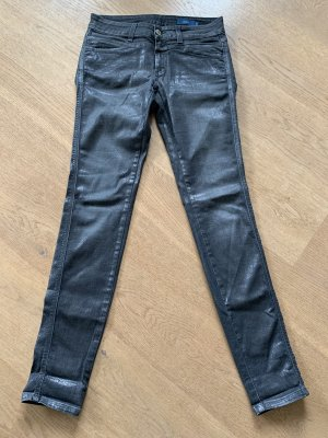 Closed Pedal Star Skinny Jeans schwarz Silber