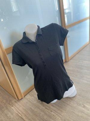 Closed Poloshirt XL 40-42 schwarz Damen top Polo Shirt