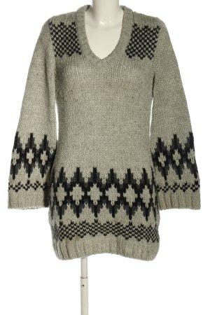 Closed Swetrowa sukienka jasnoszary Graficzny wzór W stylu casual