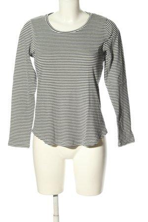 Closed Maglietta a righe nero-bianco sporco motivo a righe stile casual