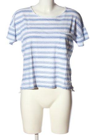 Closed Ringelshirt weiß-blau Streifenmuster Casual-Look