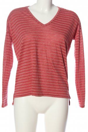 Closed Ringelshirt rot Streifenmuster Casual-Look