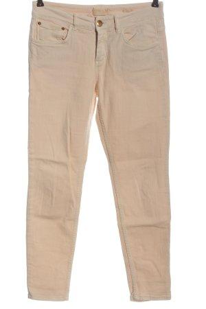 Closed Drainpipe Trousers cream casual look