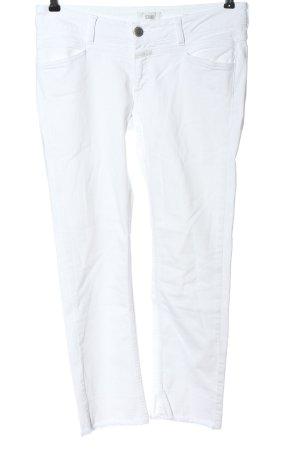Closed Jeans a sigaretta bianco motivo a righe stile casual