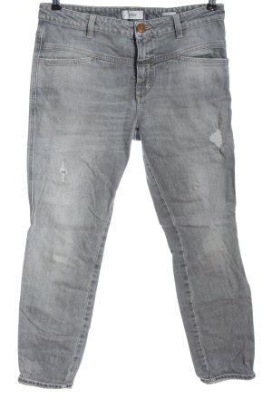 Closed Jeans cigarette gris clair style décontracté