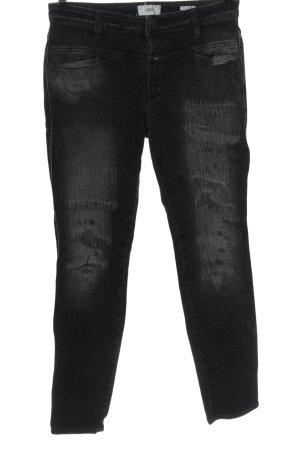 Closed Jeans cigarette noir-gris clair style décontracté