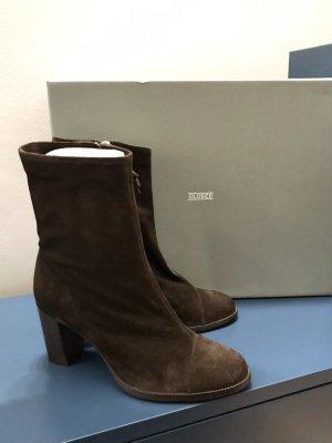 CLOSED Rosemary Boots Velour Rau Wild Leder Stiefeletten NEU 39 40