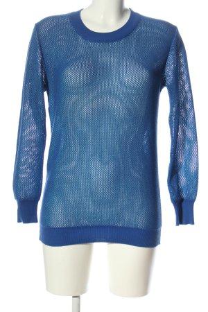 Closed Jersey de cuello redondo azul look casual