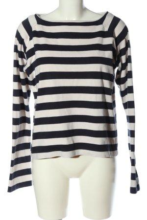 Closed Top à manches longues noir-blanc motif rayé style décontracté