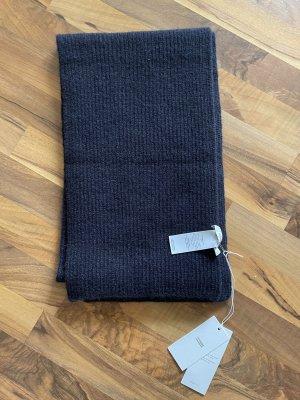 Closed Woolen Scarf dark blue-blue wool