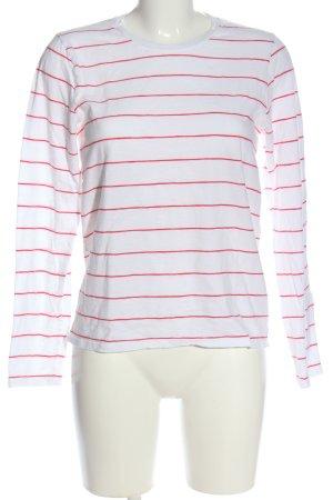 Closed Schlupf-Bluse weiß-pink Streifenmuster Casual-Look