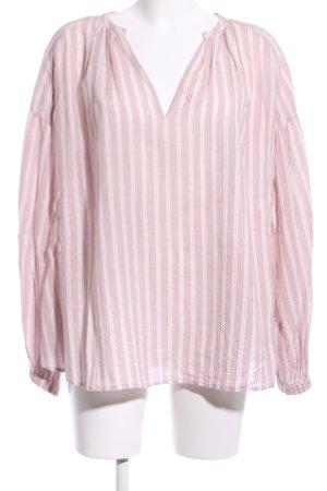 Closed Schlupf-Bluse pink-weiß Streifenmuster Casual-Look