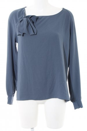 Closed Stropdasblouse blauw Polyester