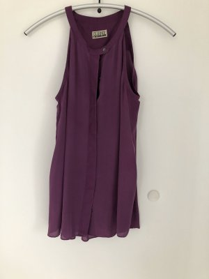 Closed Blouse Top dark violet silk
