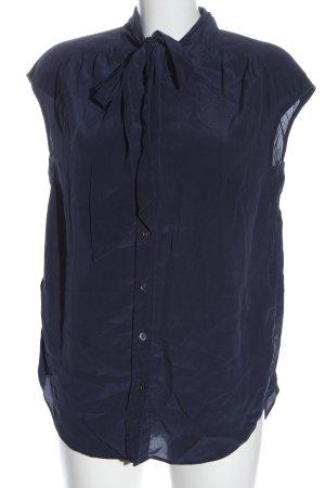Closed Blusa de seda azul estilo «business»