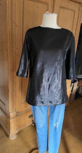 Closed Glanzende blouse zwart Katoen
